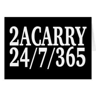 2A CARRY 24/7/365 GUN RIGHTS CARD