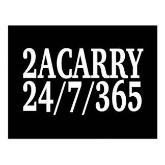 2A LLEVAN las DERECHAS de 24/7/365 ARMA Tarjeta Postal