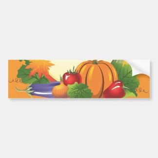 2ai caída cosecha guirnalda colorida verduras etiqueta de parachoque