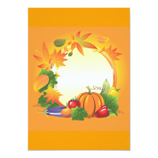 2ai, fall, harvest, wreath, colourful, vegetables, card