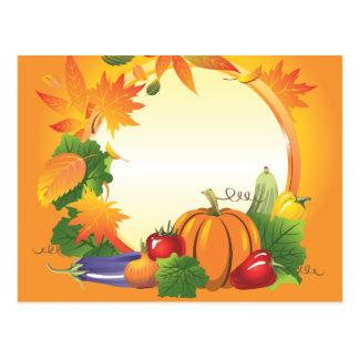 2ai, fall, harvest, wreath, colourful, vegetables, postcard