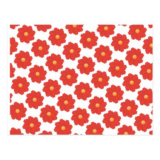 2ai red flowers postcard