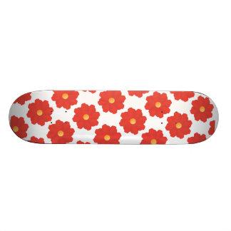 2ai red flowers skateboard