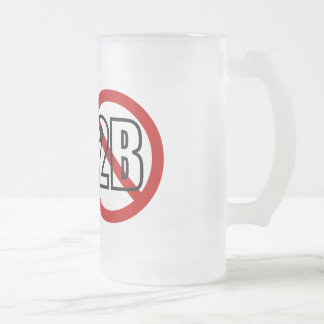 2B or not 2B Frosted Glass Beer Mug