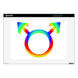 """2become1 Gay Pride Decal For 15"""" Laptop"""