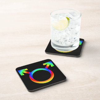 2become1 Gay Pride Drink Coaster