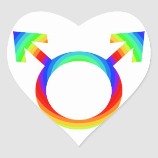2become1 Gay Pride Heart Sticker