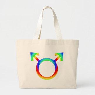 2become1 Gay Pride Large Tote Bag