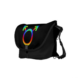 2become1 Gay Pride Courier Bags