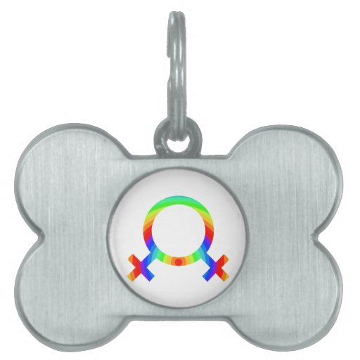 2become1 Lesbian Pride Pet ID Tag