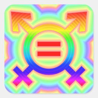 2become1 same-sex marriage square sticker