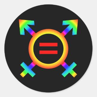 2become1 same-sex marriage classic round sticker