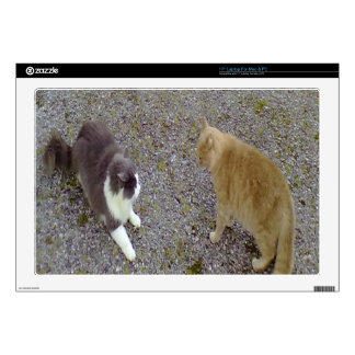 """2cats.png decal for 17"""" laptop"""