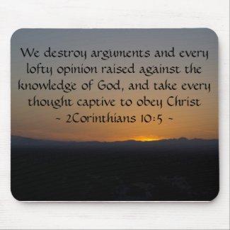 2Corinthians 10:5 Mouse Pad