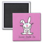 2cute 2talk 2u 2 inch square magnet