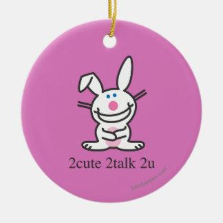 2cute 2talk 2u ceramic ornament