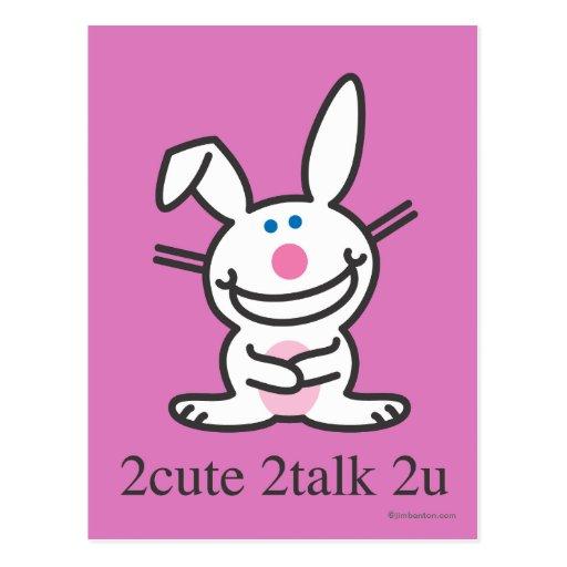 2cute 2talk 2u postcard