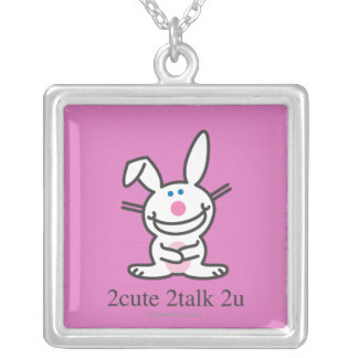 2cute 2talk 2u silver plated necklace