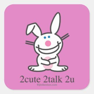 2cute 2talk 2u square sticker