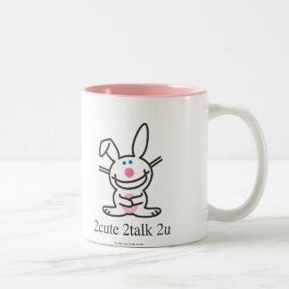 2cute 2talk 2u taza de café de dos colores
