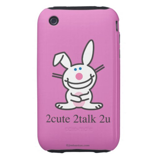2cute 2talk 2u tough iPhone 3 cárcasa
