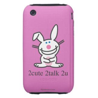 2cute 2talk 2u tough iPhone 3 cover