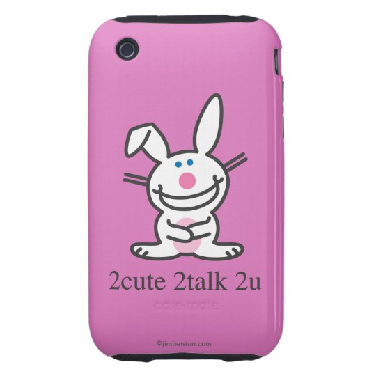 2cute 2talk 2u tough iPhone 3 cover