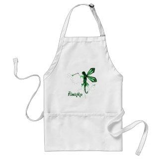 2D Absinthe Green Fairy Sketch Apron