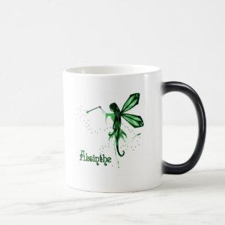 2D Absinthe Green Fairy Sketch Magic Mug
