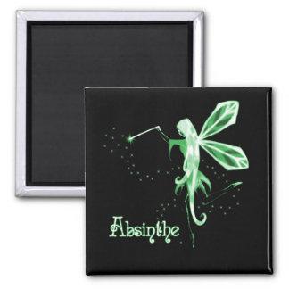 2D Absinthe Green Fairy Sketch Magnet