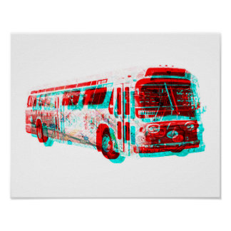 2D AC Transit Bus Old School Poster