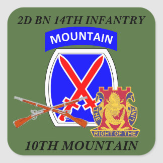 2D BN 14TH INFANTRY 10TH MOUNTAIN STICKERS