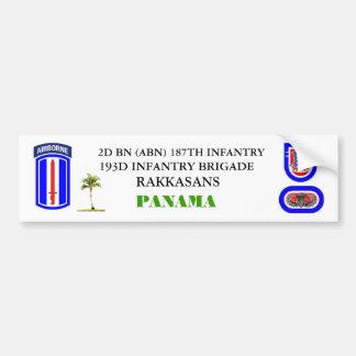 2D BN (ABN) 187TH INFANTRY Bumper Sticker