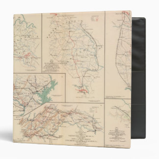 2d Corps AN Va, camps, pickets, routes 3 Ring Binder
