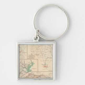 2d Corps AN Va, camps, pickets, routes Keychain