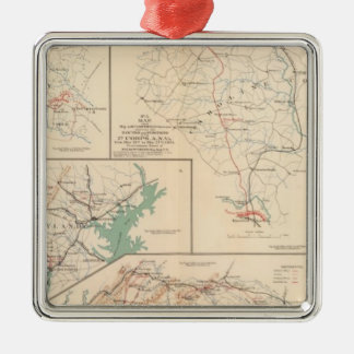 2d Corps AN Va, camps, pickets, routes Christmas Tree Ornament