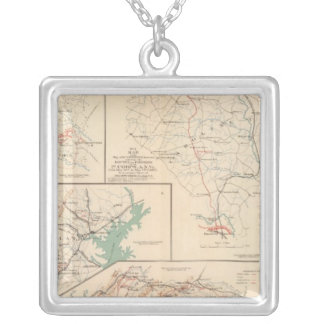 2d Corps AN Va, camps, pickets, routes Silver Plated Necklace
