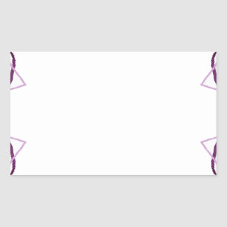 2D Embroidery 2 Rectangular Sticker