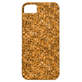 2D Flat, Printed, Gold Faux Jewels iPhone 5 Case