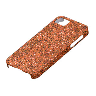 2D Flat, Printed, Orange Faux Jewels iPhone 5 Case