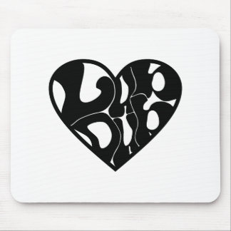 2D Lub Dub (Black) Mouse Pad