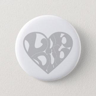 2D Lub Dub (Gray) Button
