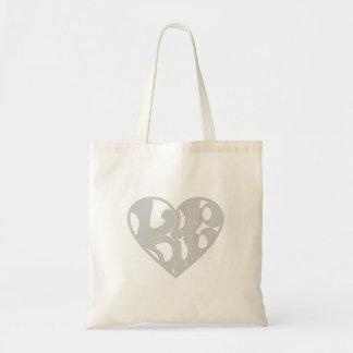 2D Lub Dub (Gray) Tote Bag