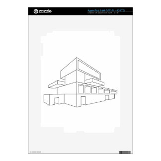 2D perspective drawing of a house Decals For iPad 3