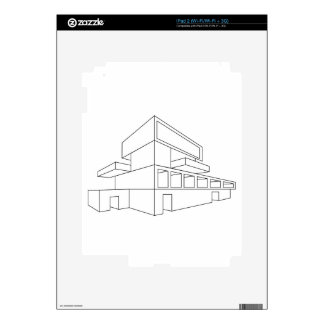 2D perspective drawing of a house Skin For The iPad 2