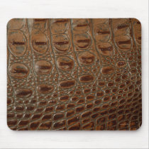2D Photo-sampled Crocodile Leather-look Design Mouse Pad