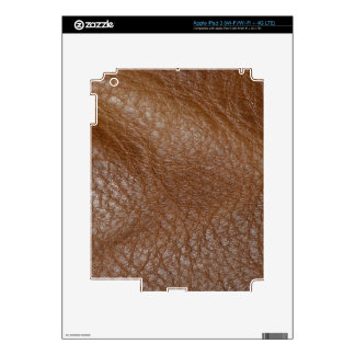 2D Photo-sampled Faux Leather-look Design Decal For iPad 3