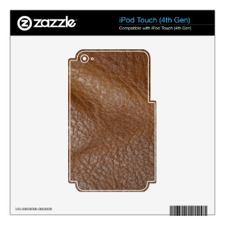 2D Photo-sampled Faux Leather-look Design Decals For iPod Touch 4G