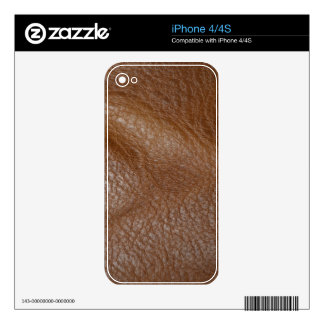 2D Photo-sampled Faux Leather-look Design iPhone 4 Decal
