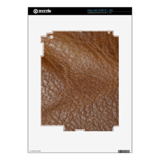 2D Photo-sampled Faux Leather-look Design Skin For iPad 2